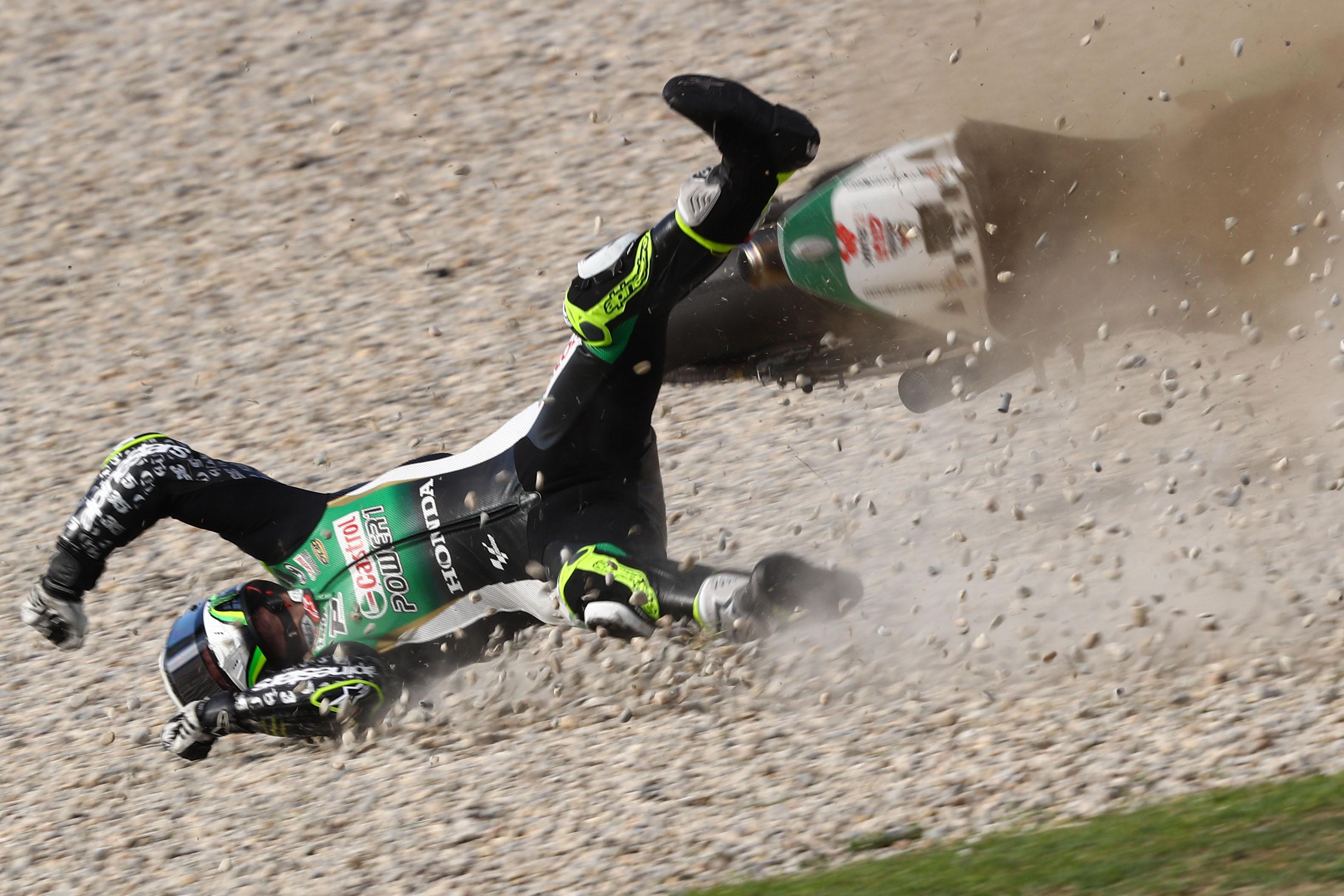 Cal Crutchlow crash, Catalunya MotoGP