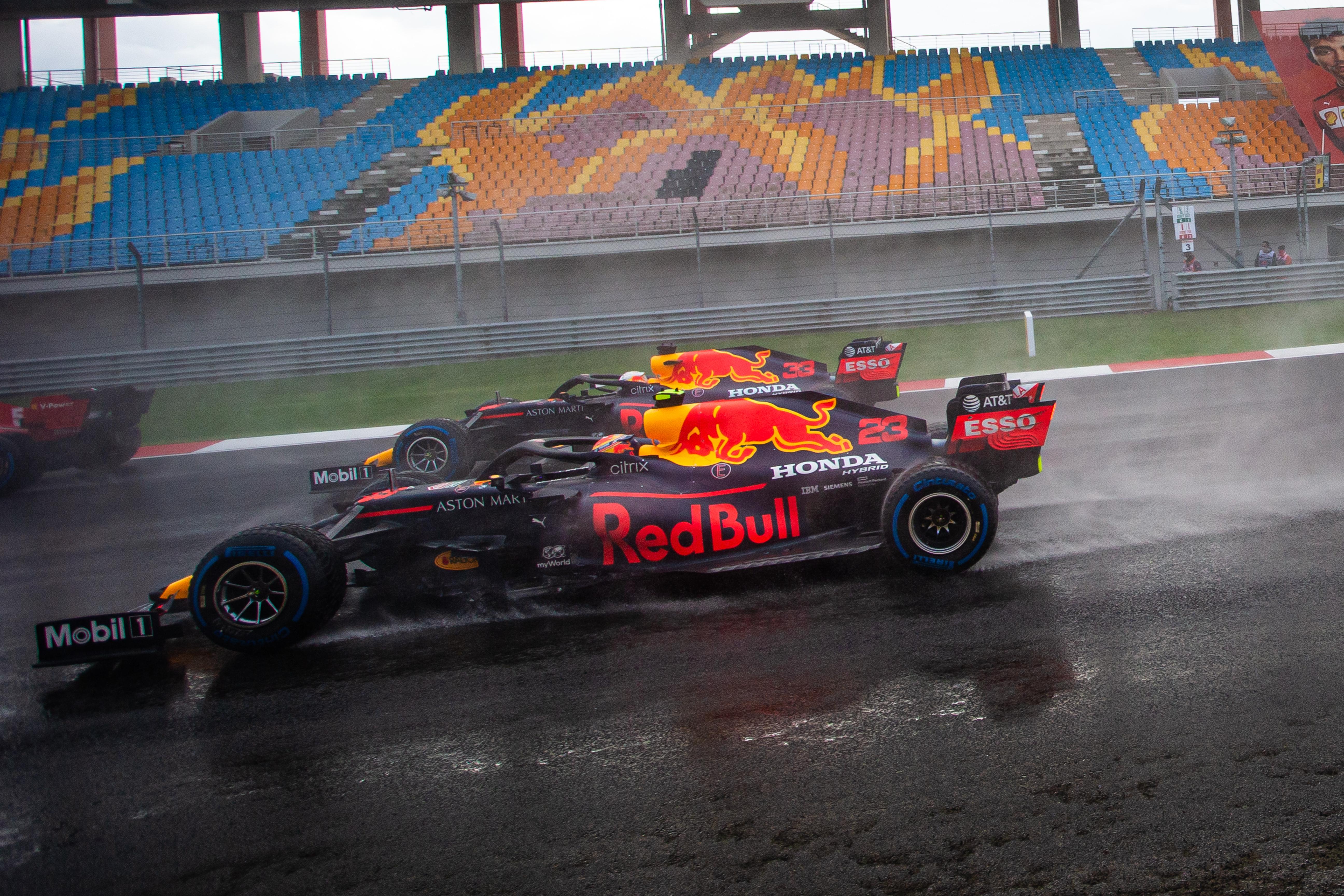Max Verstappen Alex Albon Red Bull F1 2020