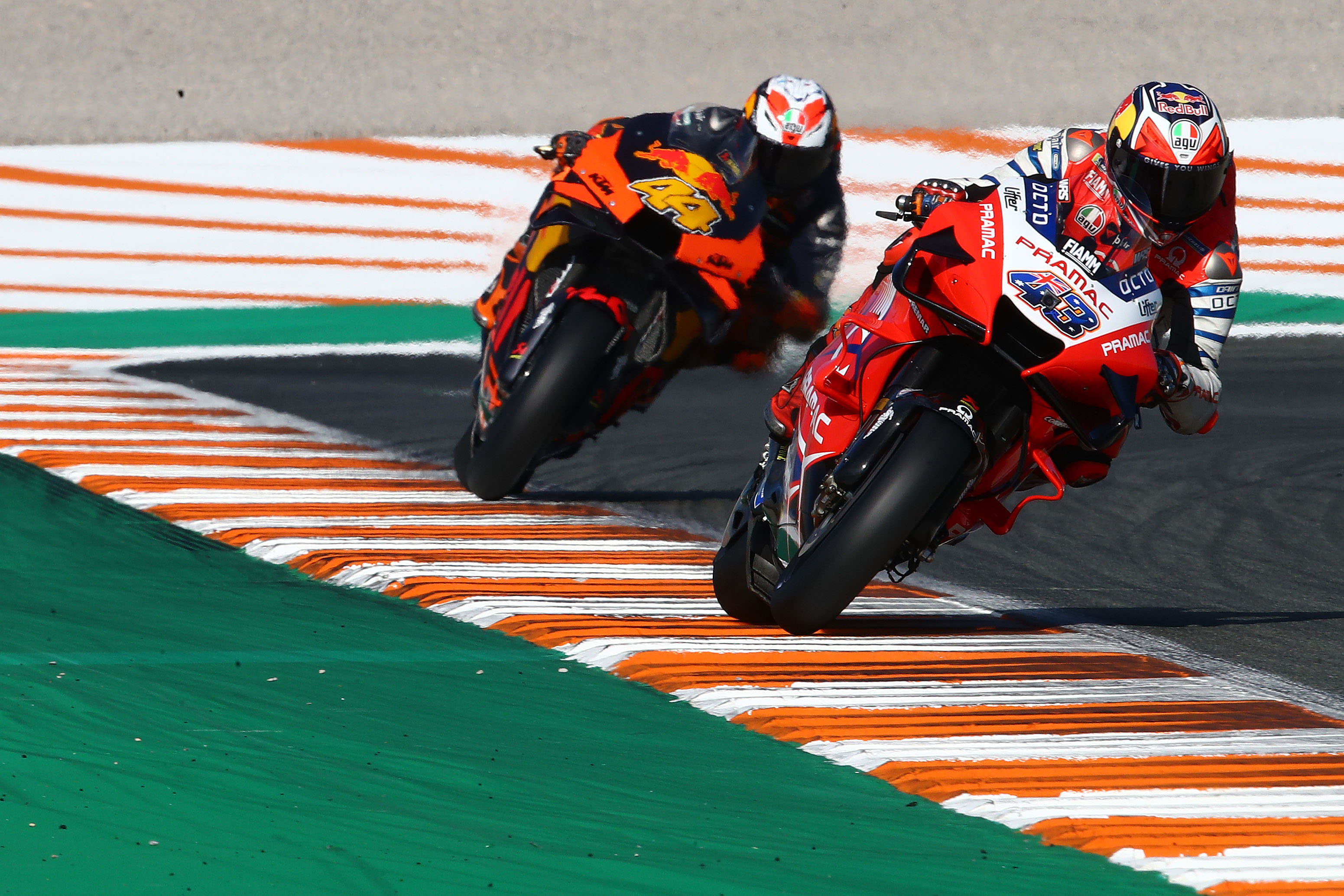 Jack Miller Pramac Ducati Pol Espargaro KTM Valencia MotoGP 2020