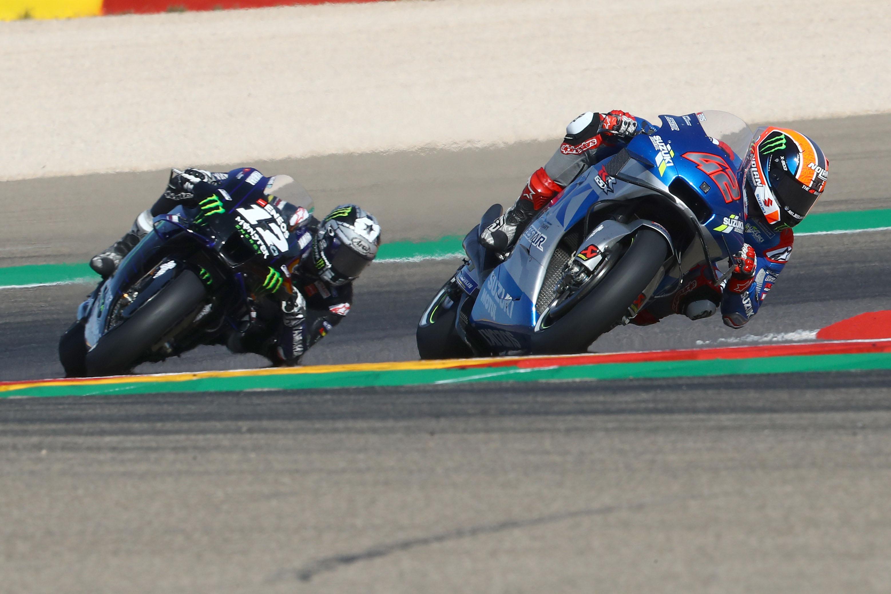 Alex Rins Suzuki Maverick Vinales Yamaha Valencia MotoGP 2020