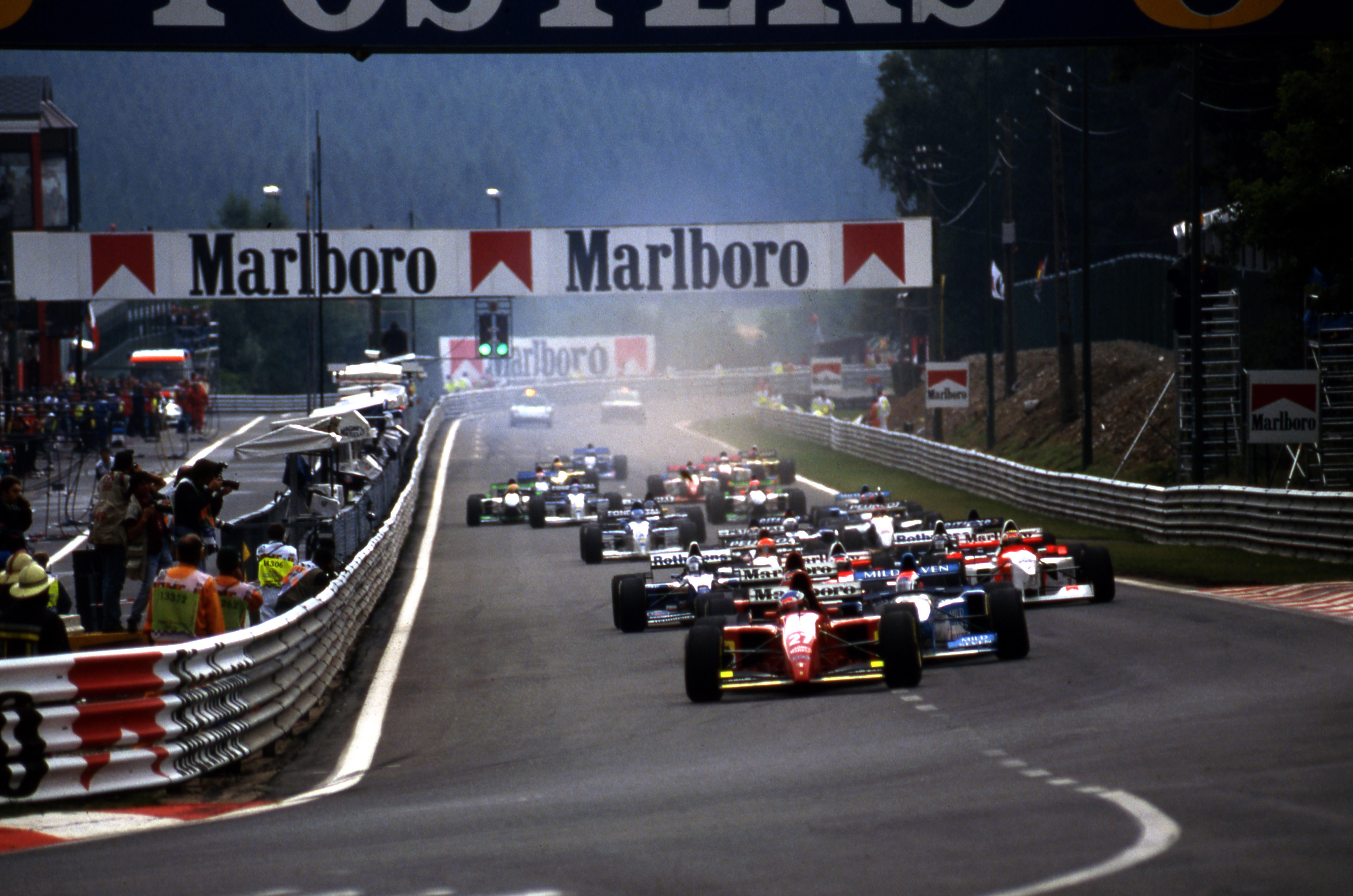 F1 1995, Belgian Grand Prix start