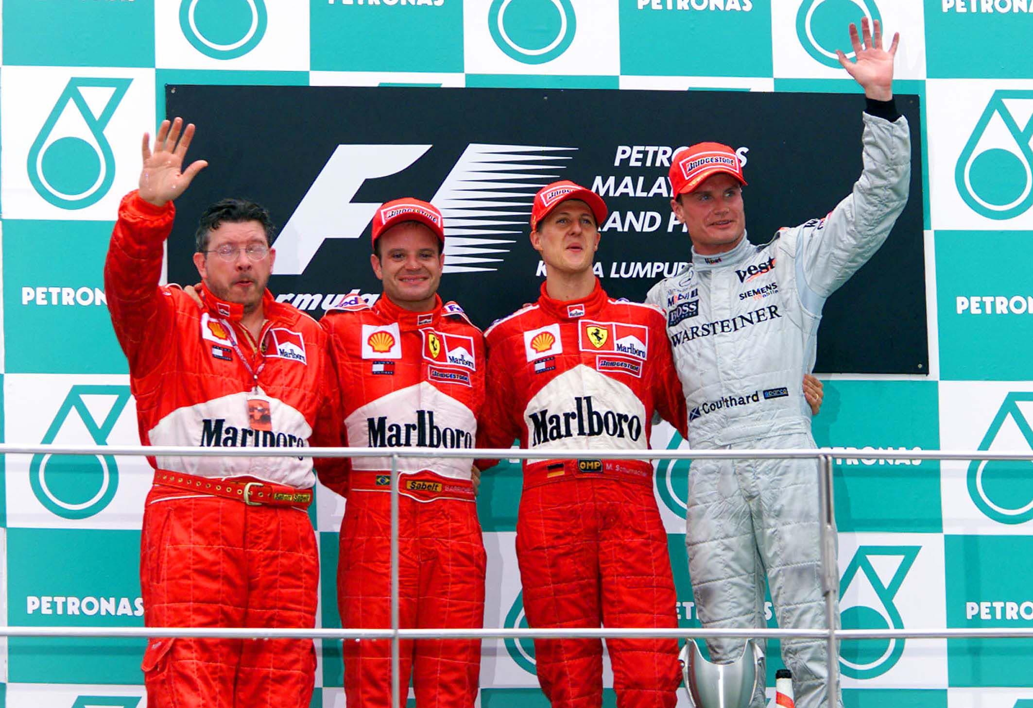 F1 2001, Malaysian GP podium