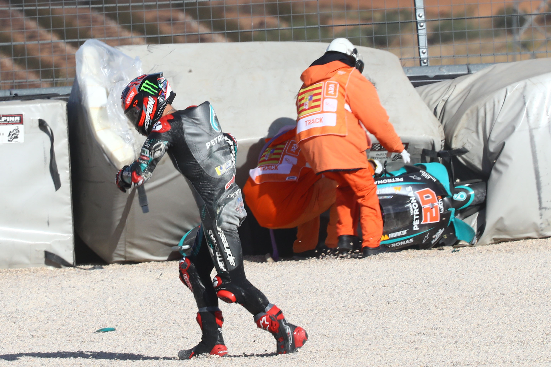 Fabio Quartararo  crash Aragon 2020