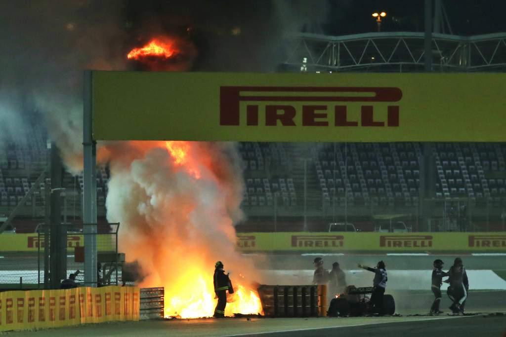 Romain Grosjean F1 crash
