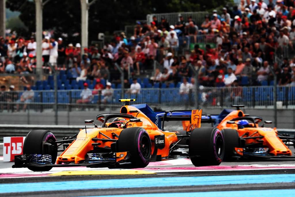 Fernando Alonso Stoffel Vandoorne F1 McLaren 2018