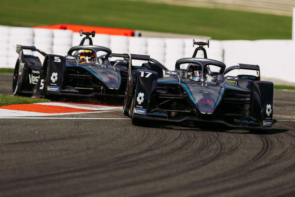 Nyck de Vries and Stoffel Vandoorne, Mercedes, Formula E testing