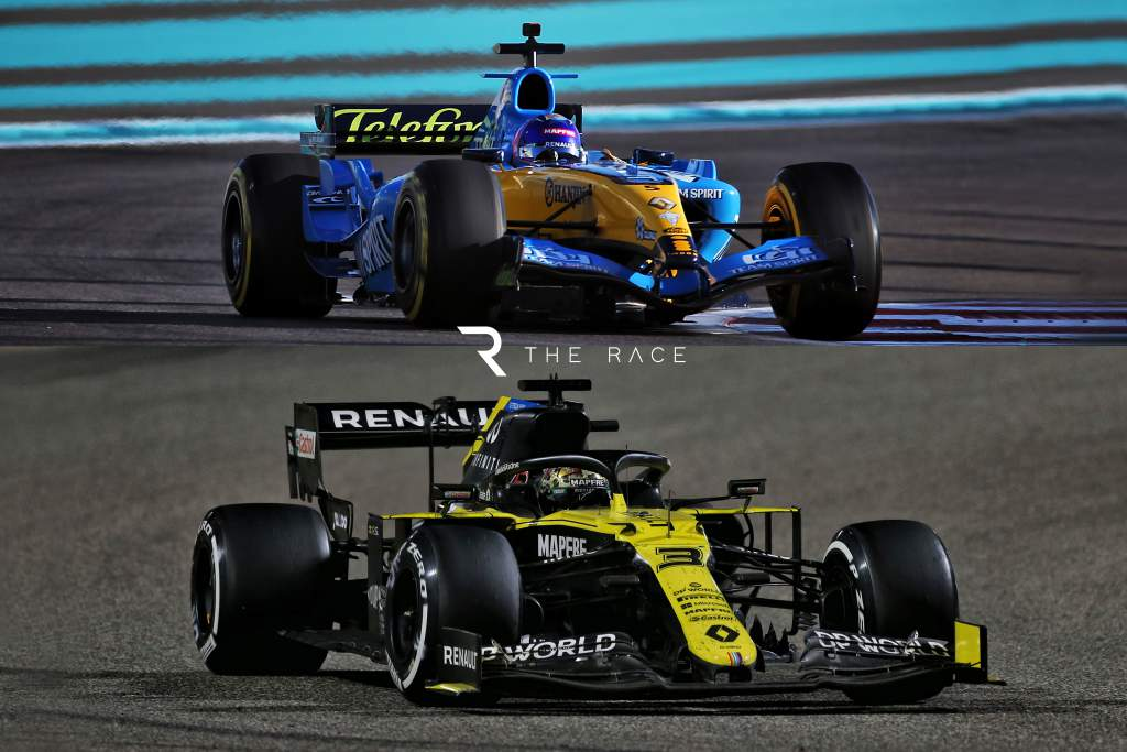 Renault 2005 and 2020 F1 cars