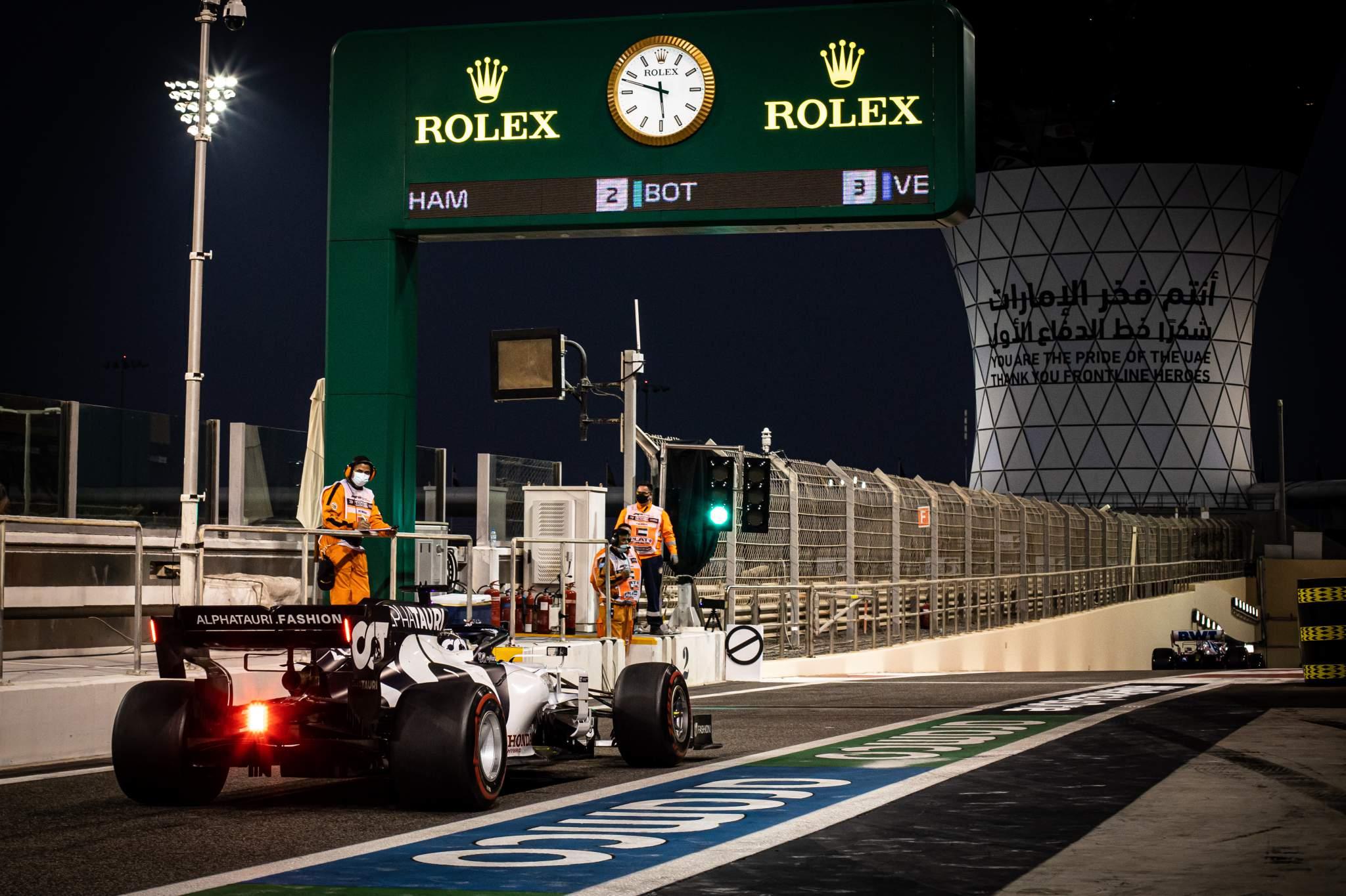 Daniil Kvyat AlphaTauri Abu Dhabi Grand Prix 2020