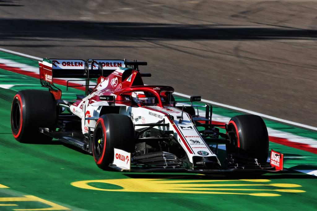 Kimi Raikkonen Alfa Romeo Imola 2020