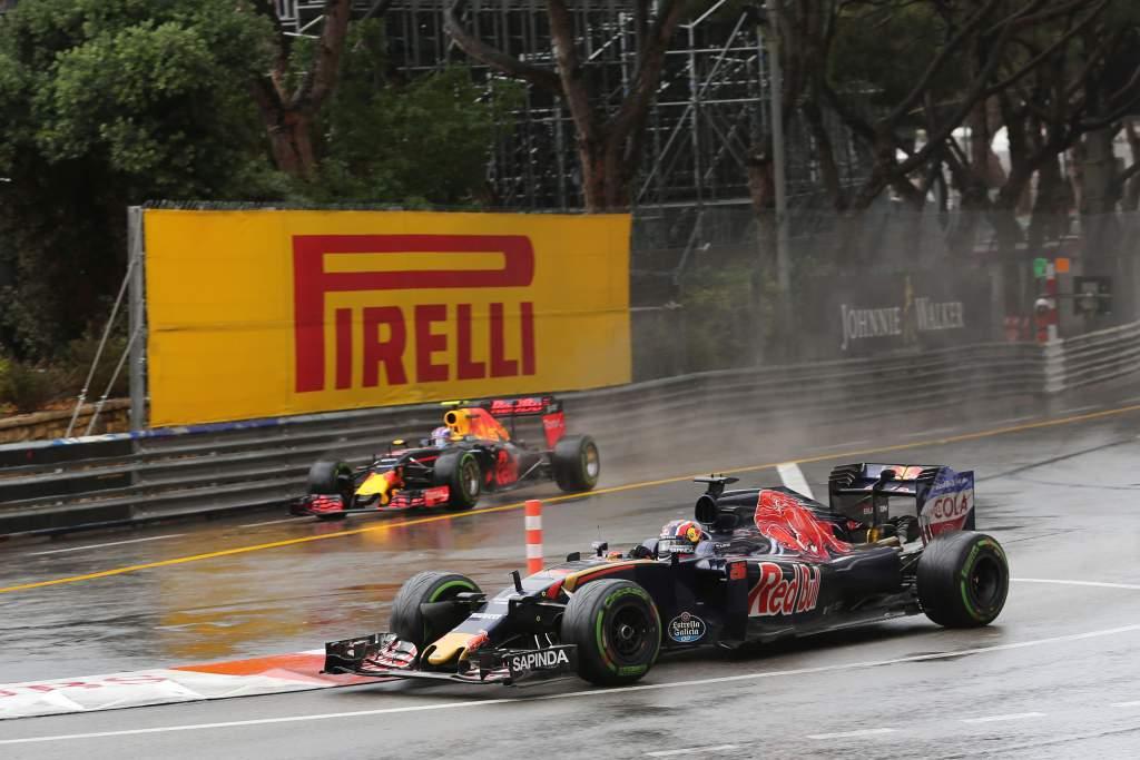 Daniil Kvyat Toro Rosso Max Verstappen Red Bull Monaco Grand Prix 2016