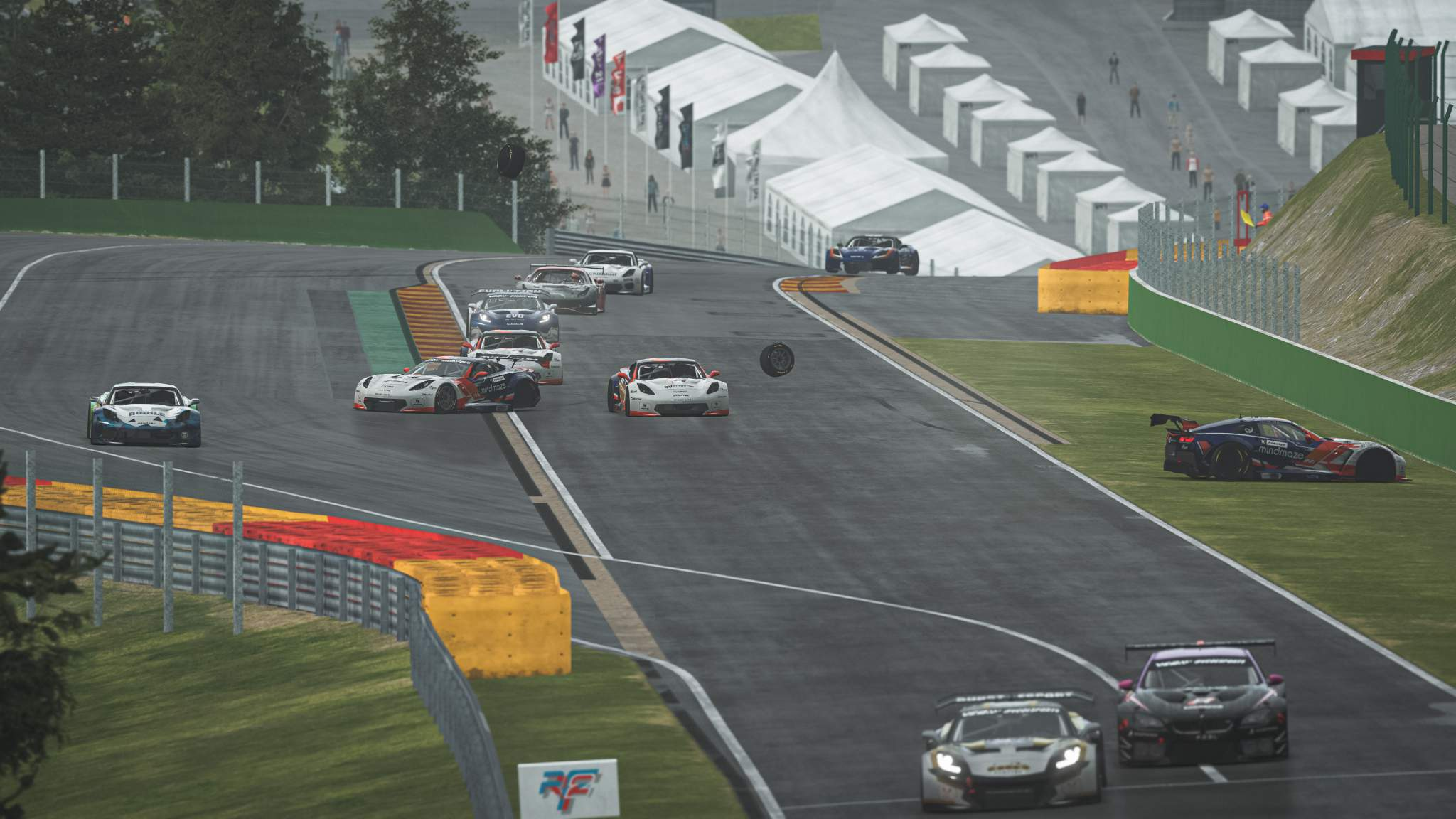 GT Pro Series crash rFactor 2