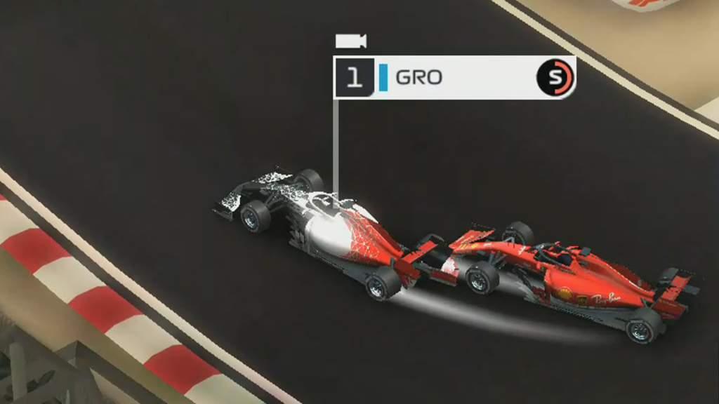 F1 Manager Grosjean Pass Vettel Bahrain