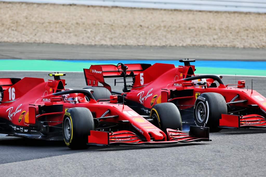 Charles Leclerc Sebastian Vettel Ferrari Nurburgring 2020