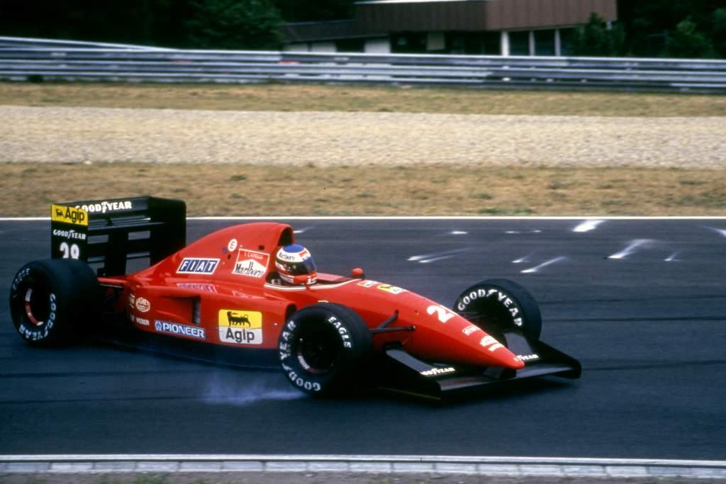 Ivan Capelli Ferrari spin Hungarian Grand Prix Hungaroring (hun) 14 16 08 1992