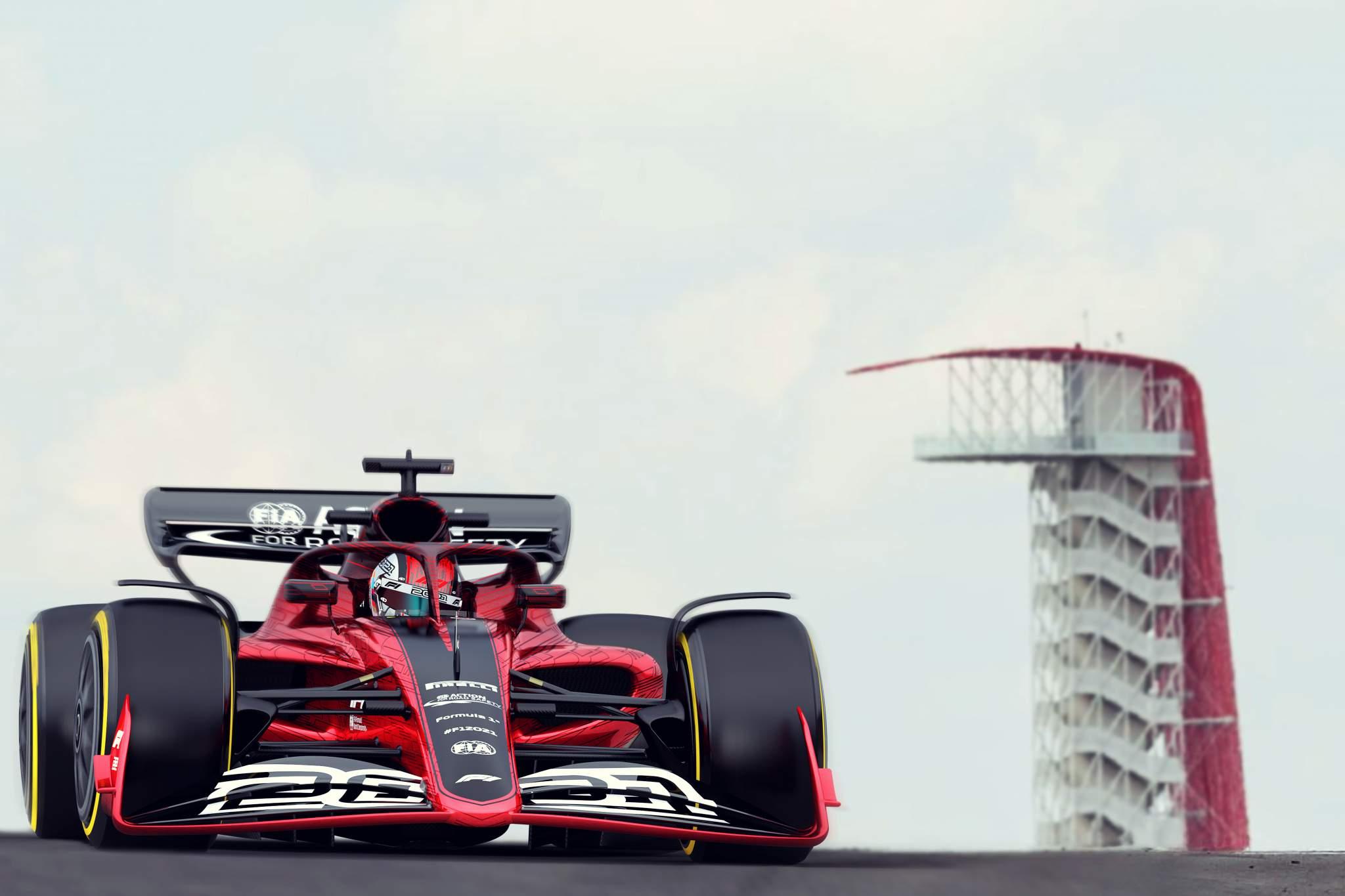 F1 2022 rules mock-up