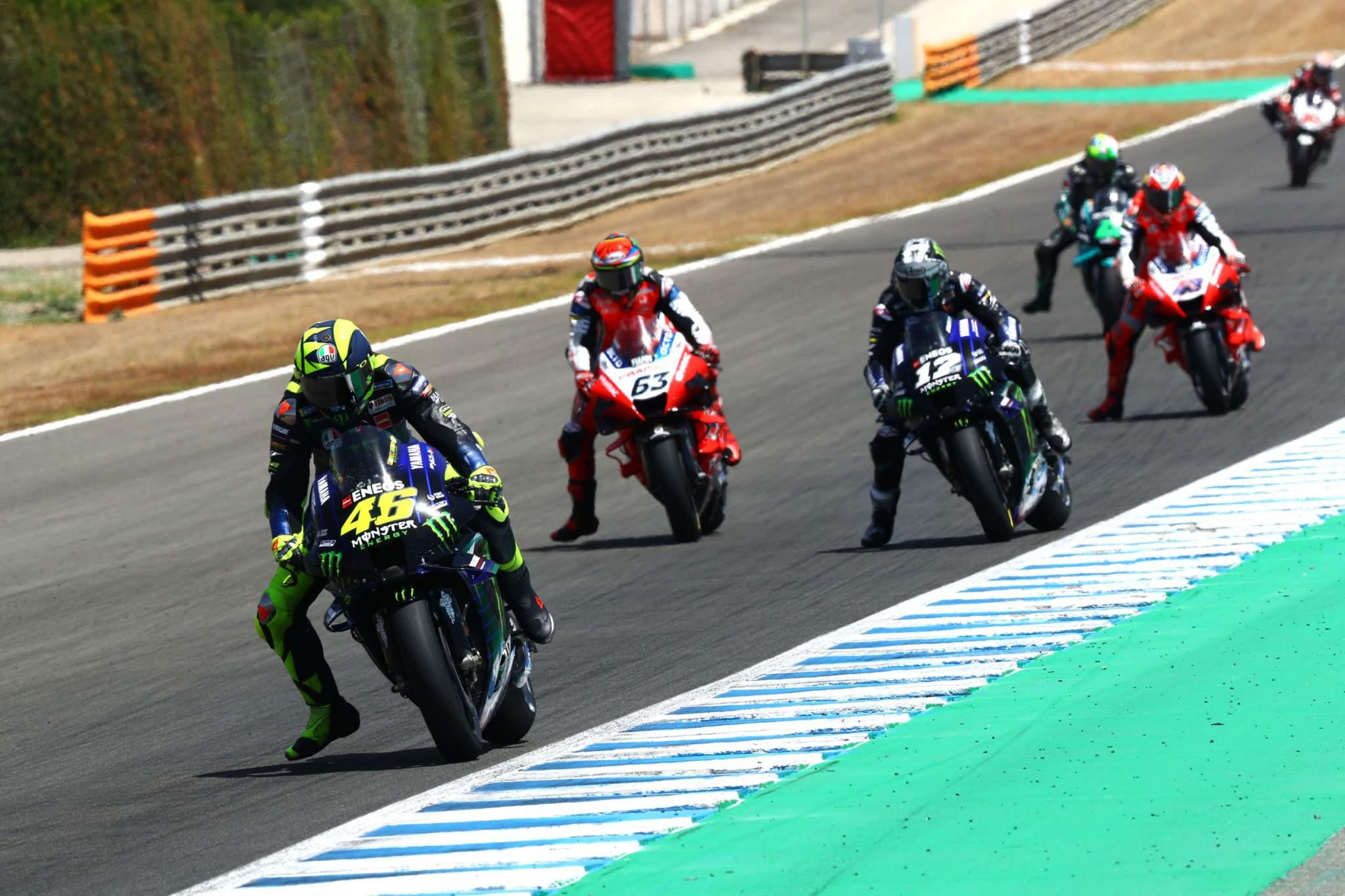 MotoGP: Valentino Rossi Maverick Vinales Francesco Bagnaia