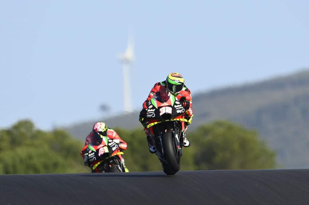Lorenzo Savadori Aleix Espargaro Aprilia MotoGP