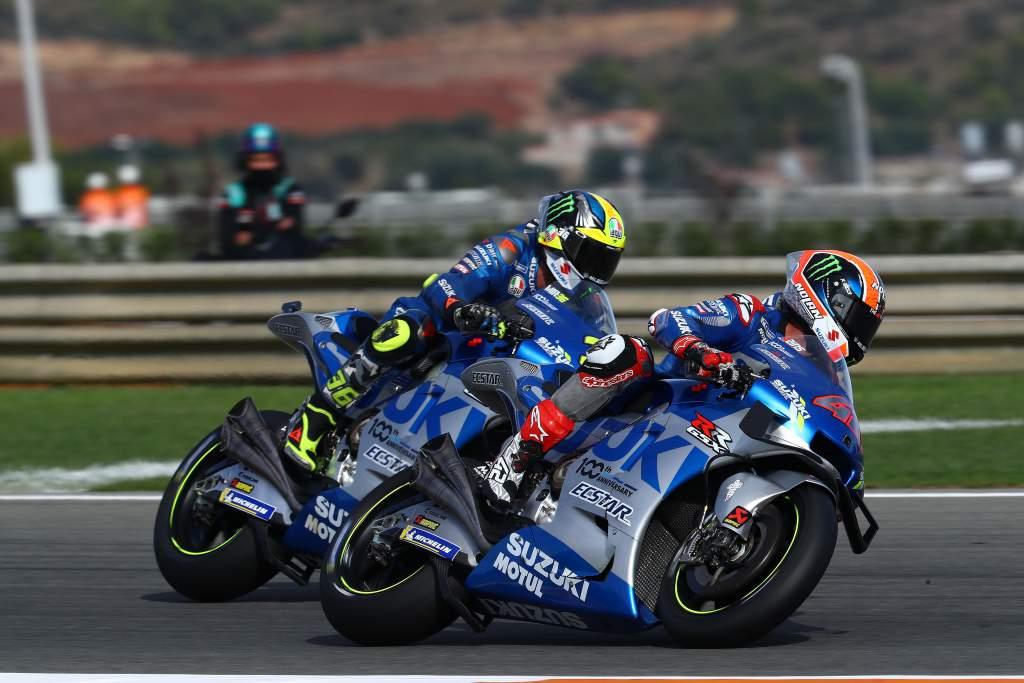 Alex Rins Joan Mir Suzuki Valencia MotoGP 2020