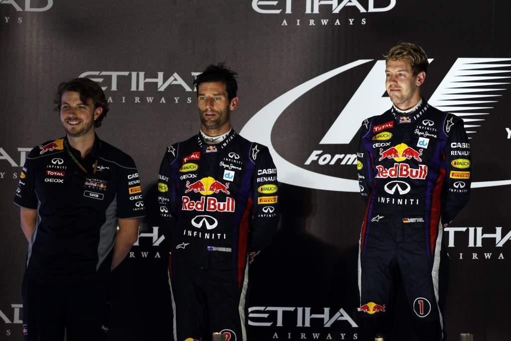 Gavin Ward Mark Webber Sebastian Vettel Red Bull F1