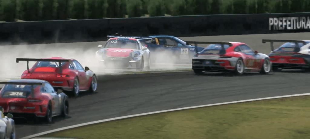 Porsche Esports 2021 R1 Rogers And Sanchez Crash