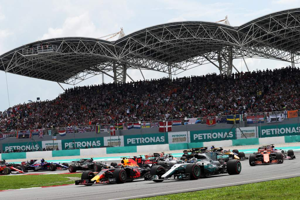 Motor Racing Formula One World Championship Malaysian Grand Prix Race Day Sepang, Malaysia