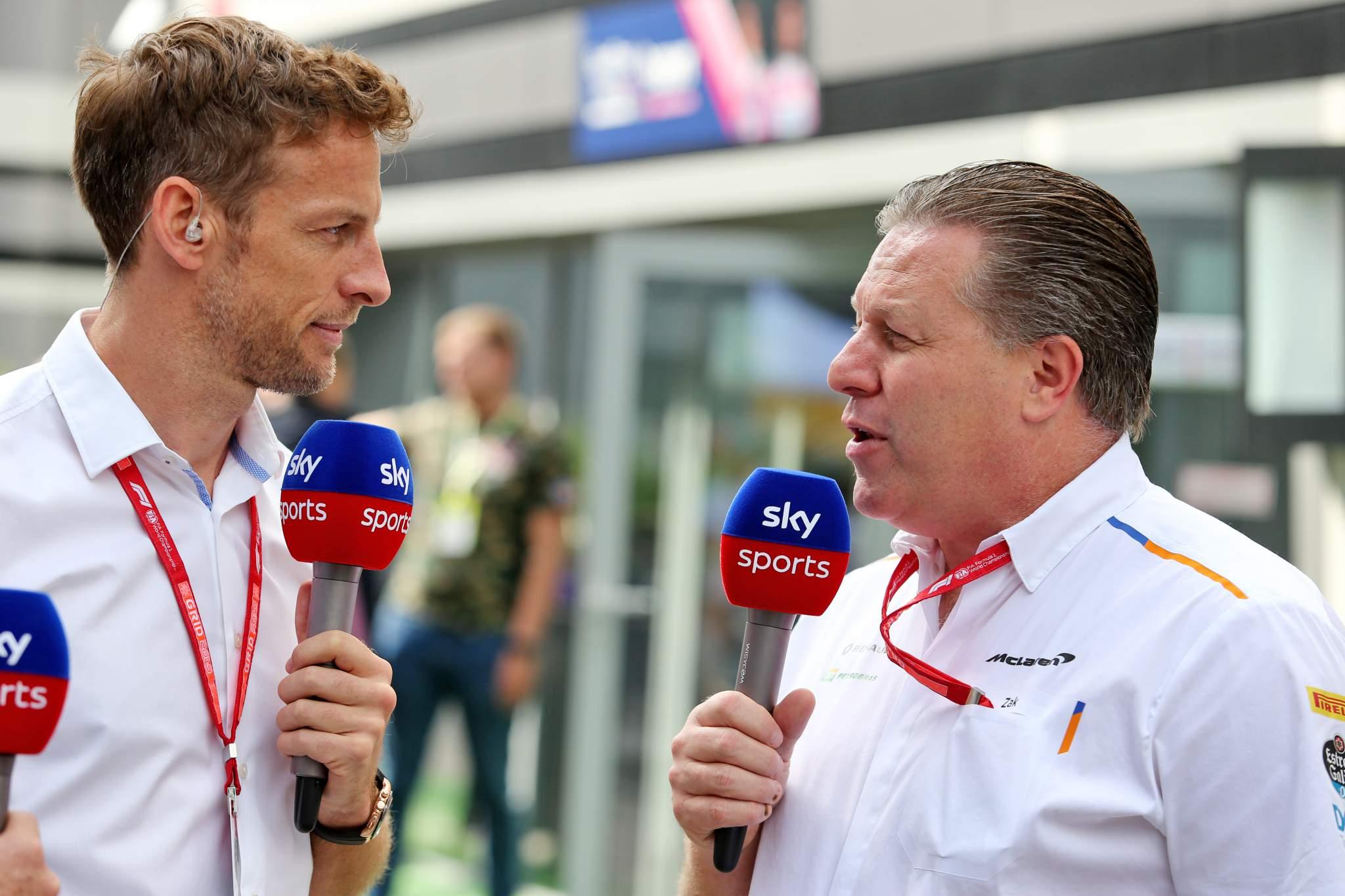Jenson Button Zak Brown IndyCar McLaren 2020