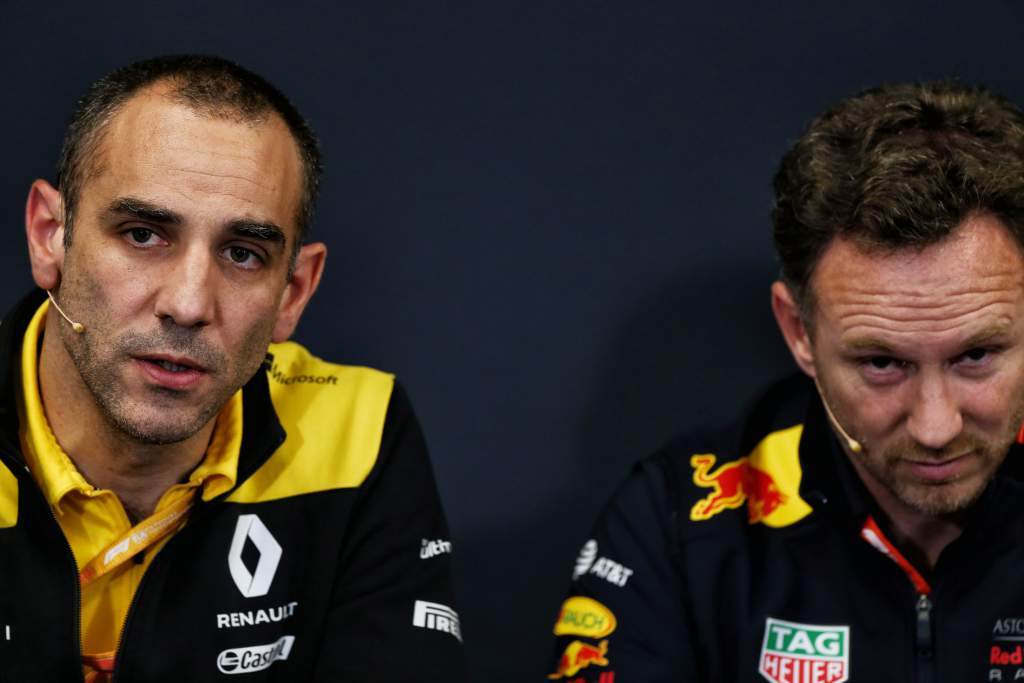 Cyril Abiteboul Christian Horner Red Bull Renault F1