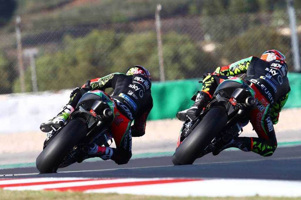 Lorenzo Savadori, Aleix Espargaro Aprilia Portimao MotoGP 2020