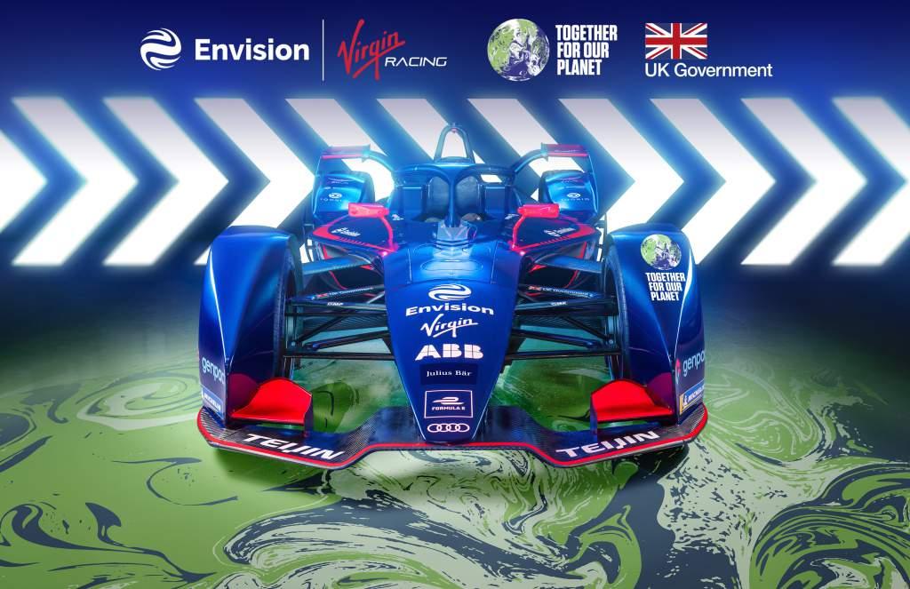 Envision Virgin UN COP26 Formula E car