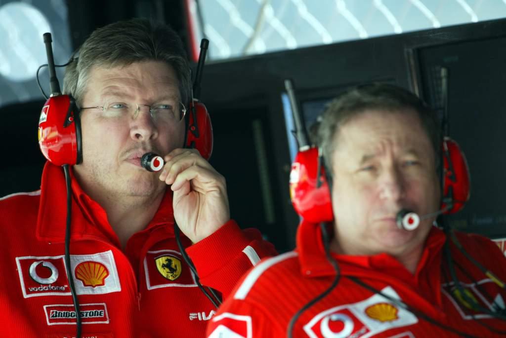Ross Brawn Jean Todt Ferrari F1