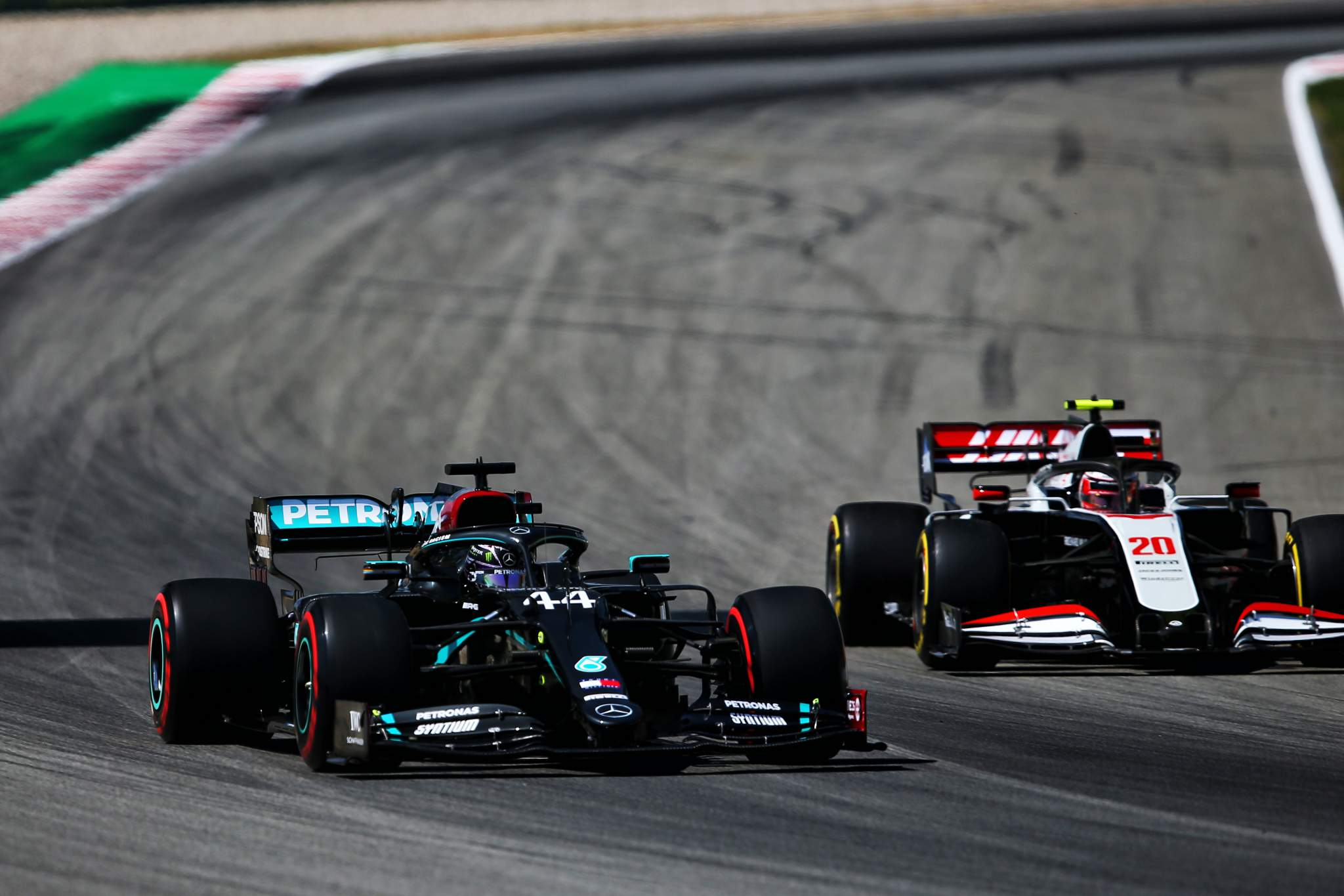 Lewis Hamilton Mercedes Kevin Magnussen Haas Spanish Grand Prix 2020 Barcelona