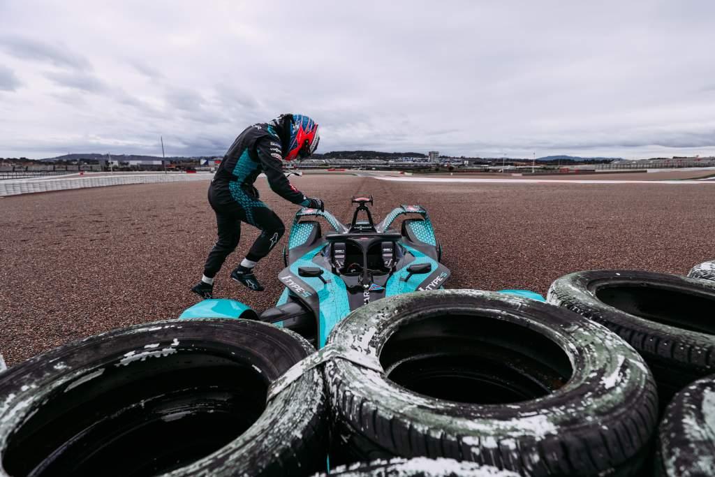 Mitch Evans Jaguar crash Valencia Formula E test 2020