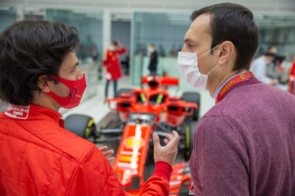 Carlos Sainz Jr at Ferrari