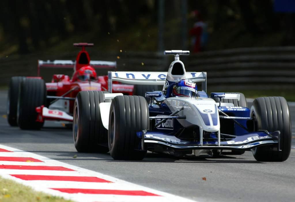 Juan Pablo Montoya Williams Michael Schumacher Ferrari Italian Grand Prix 2003 Monza