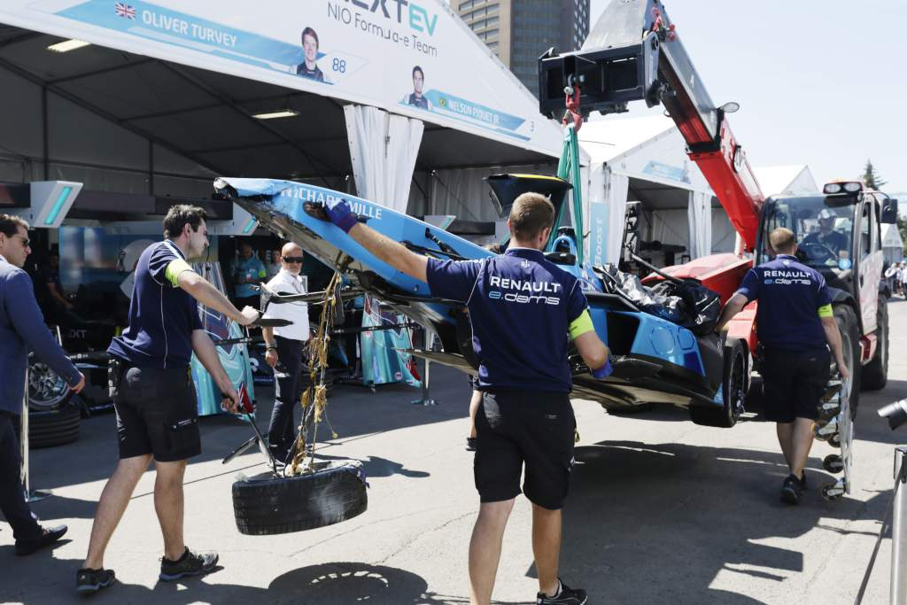 Sebastien Buemi crash Montreal Formula E 2017