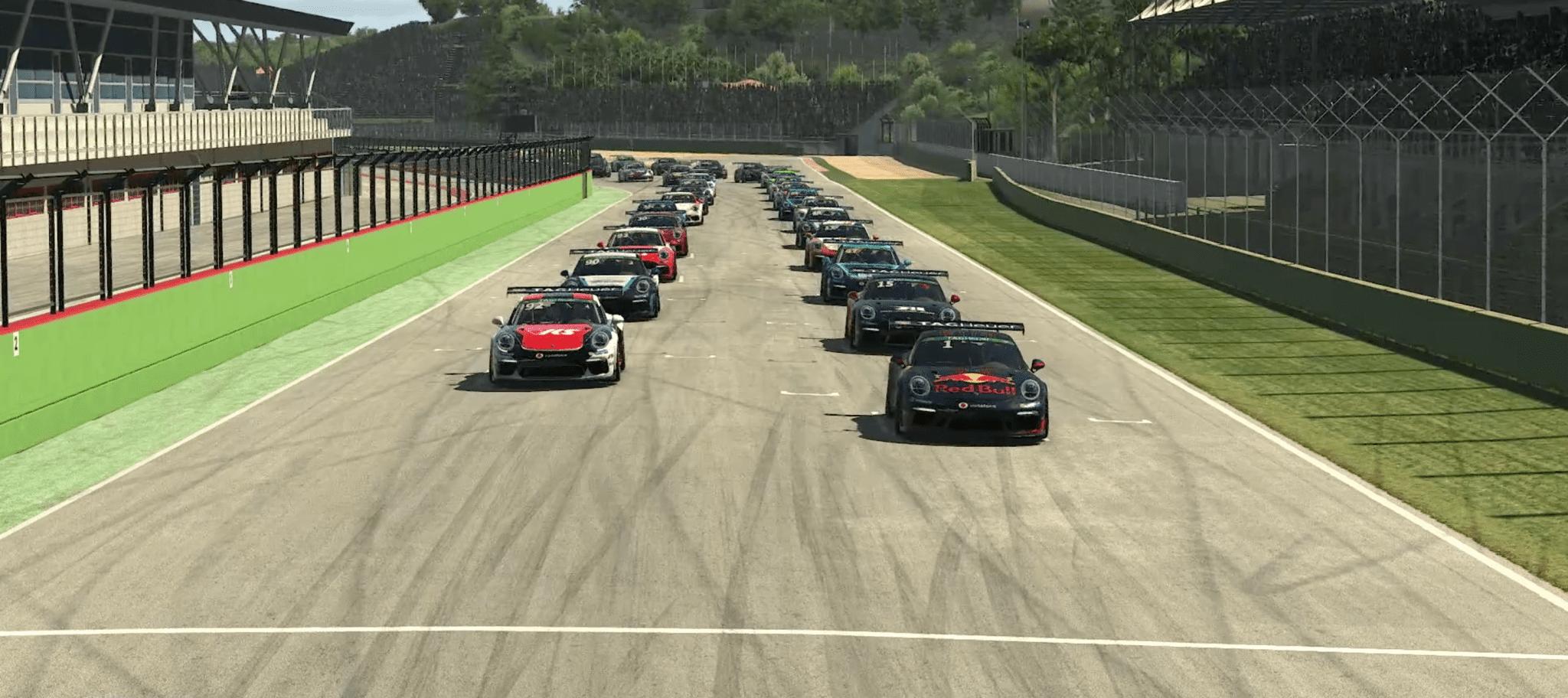 Porsche Esports 2021 R3 Sprint Race Start