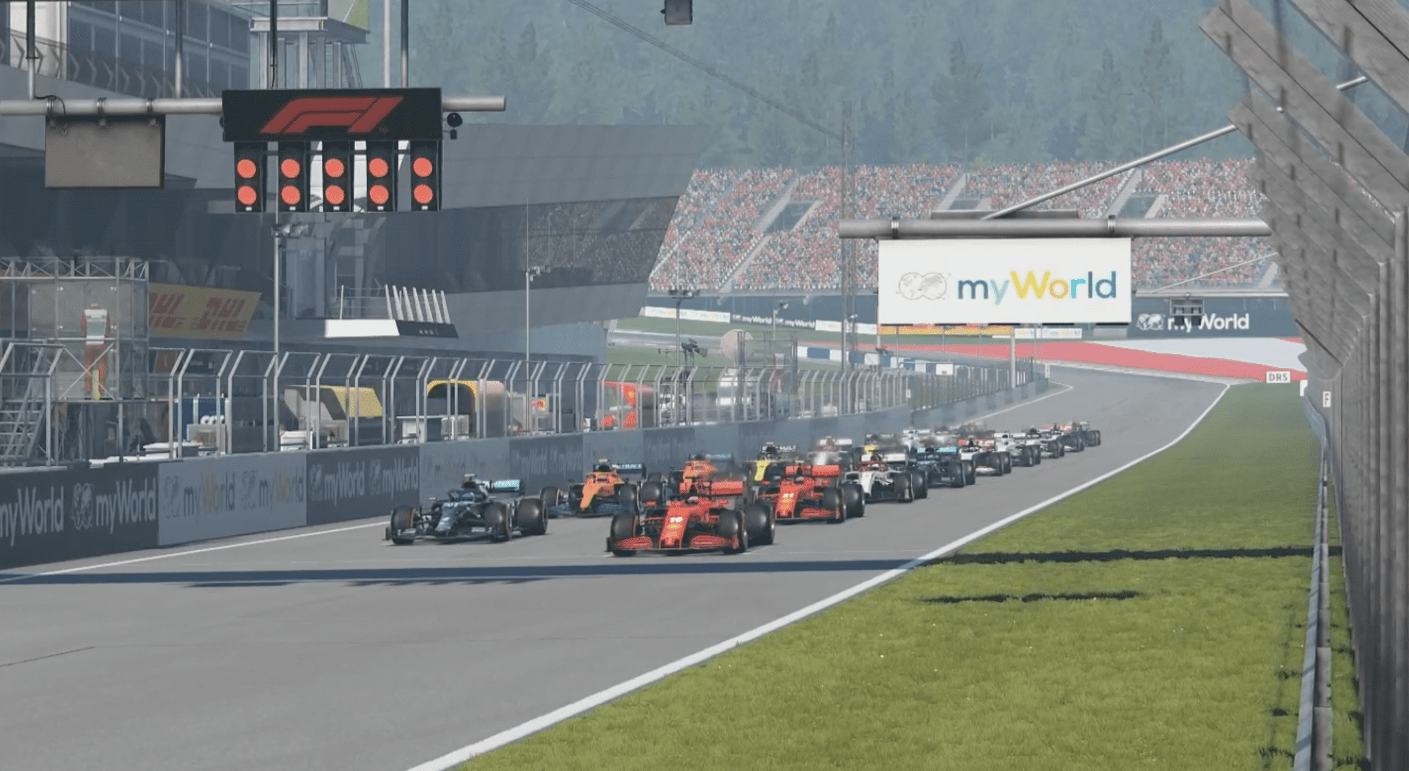 2021 F1 Virtual Gp R1 Race Start