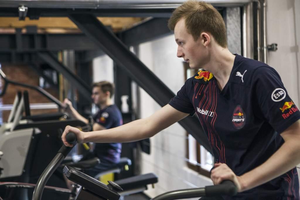 Red Bull F1 Esports Rasmussen training
