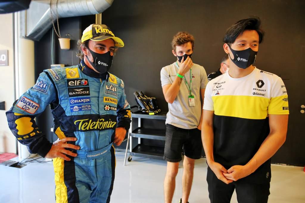 Fernando Alonso Guanyu Zhou Christian Lundgaard Renault F1