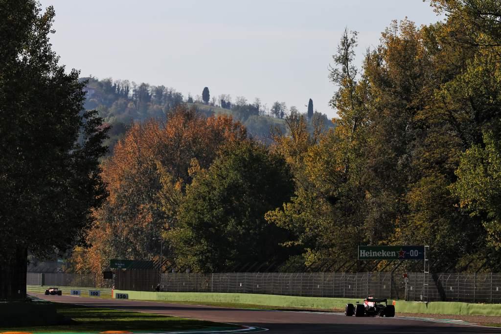 Motor Racing Formula One World Championship Emilia Romagna Grand Prix Qualifying Day Imola, Italy