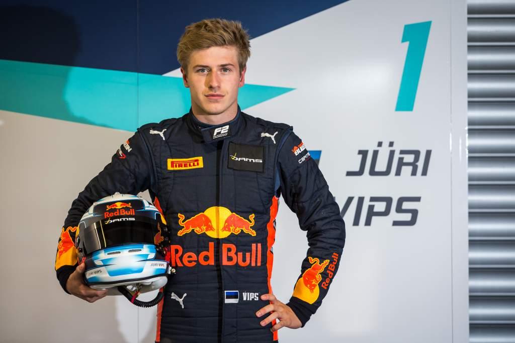 Juri Vips Red Bull Junior Team DAMS F2
