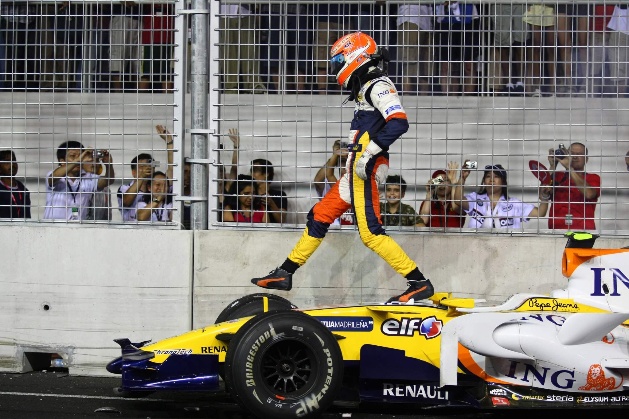 F1 Singapore GP Nelson Piquet crash
