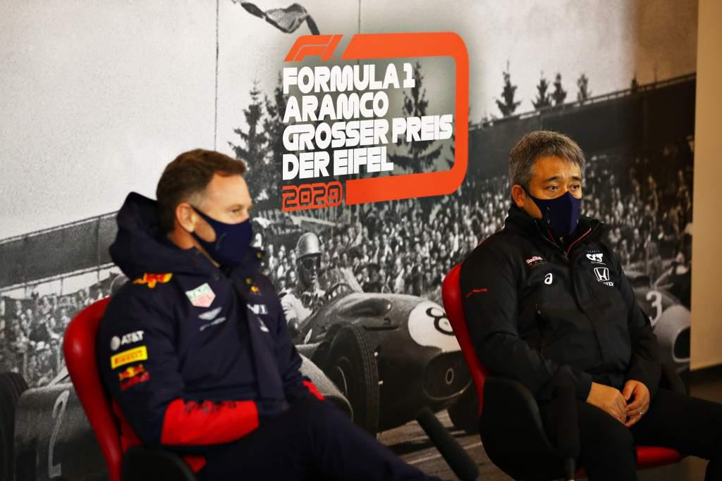 Christian Horner Masashi Yamamoto F1