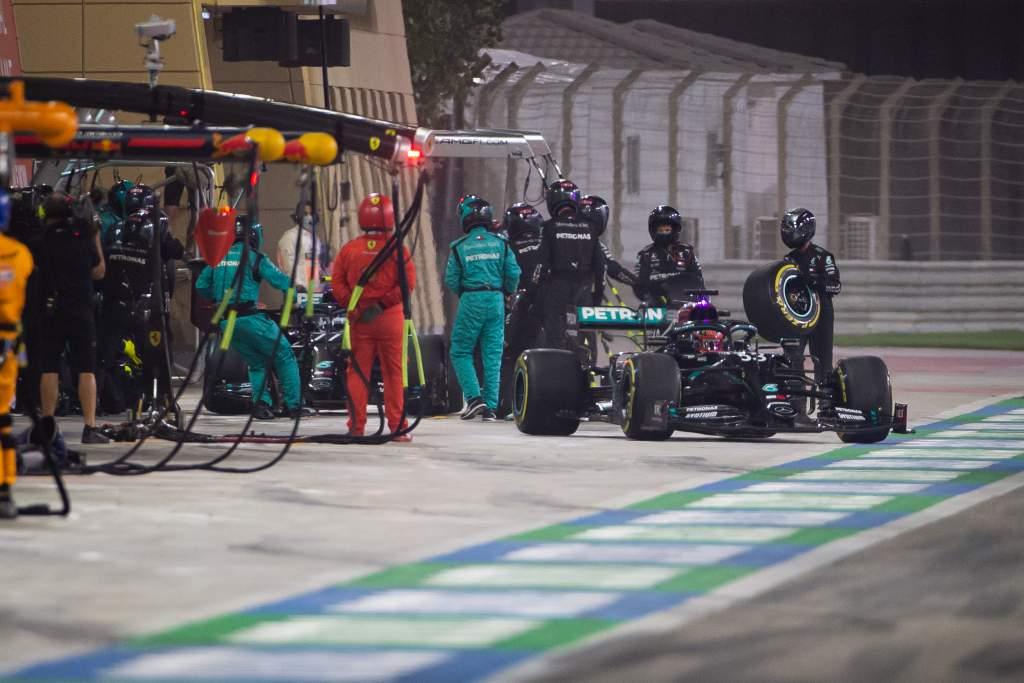 Mercedes pitstop Sakhir GP F1