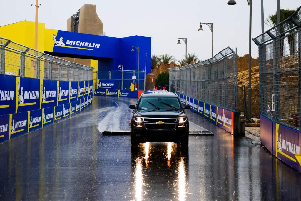 Formula E Saudi Arabia rain