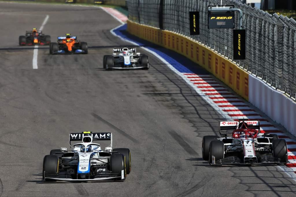 Nicholas Latifi Williams Kimi Raikkonen Alfa Romeo F1