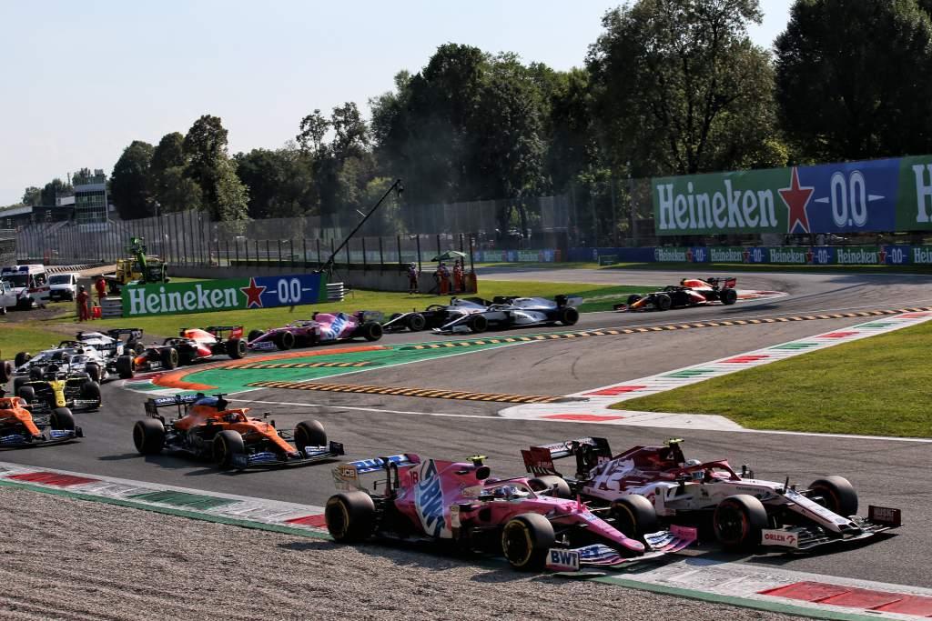 Lance Stroll Racing Point Antonio Giovinazzi Alfa Romeo F1