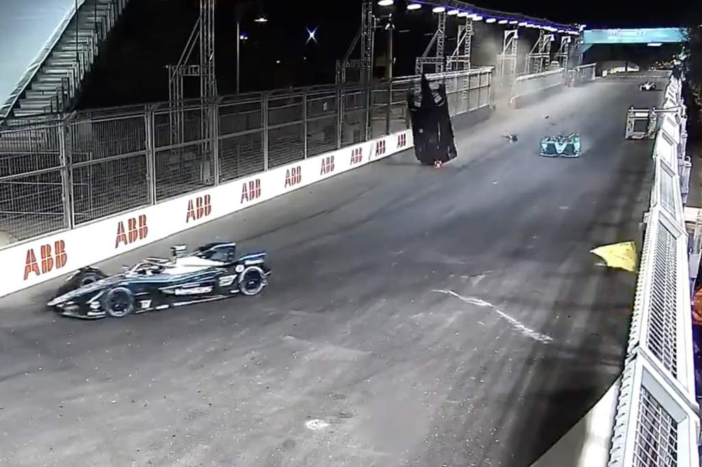 Why TV, onboard cameras missed Lynn's huge Formula E crash - The Race