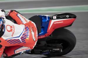 Jorge Martin Pramac Ducati MotoGP tail unit F1 logo